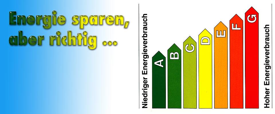 Energie sparen, aber richtig!